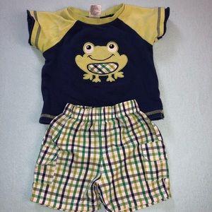 Plaid Frog Set